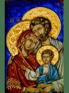 Icono bizantino. LA SAGRADA FAMILIA