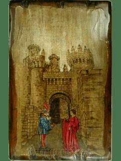 Castillo de los Templarios con una pareja